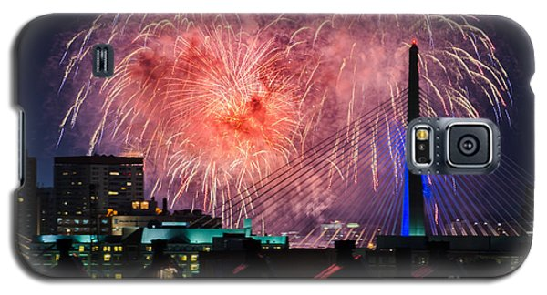 Galaxy S5 Case featuring the photograph Boston Fireworks 1 by Mike Ste Marie