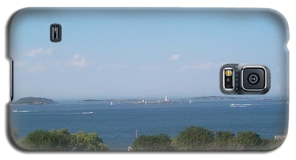 Galaxy S5 Case featuring the photograph Boston Harbor From Hull by Barbara McDevitt