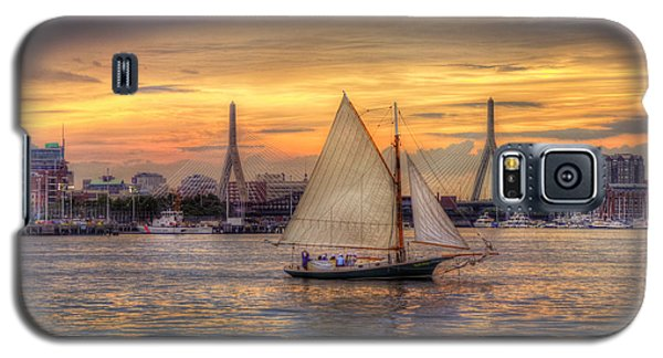 Boston Harbor Sunset Sail Galaxy S5 Case by Joann Vitali