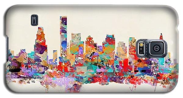 Boston Massachusetts Skyline Galaxy S5 Case by Bri B