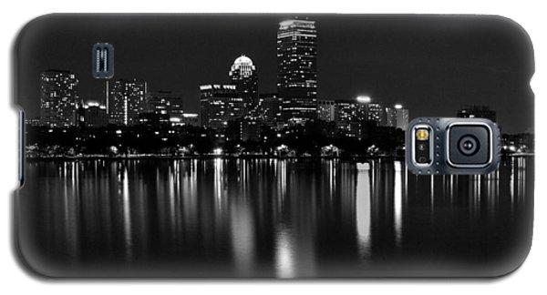 Boston Skyline By Night - Black And White Galaxy S5 Case