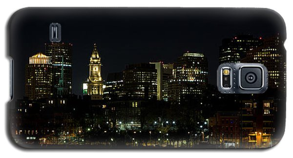 Boston Skyline On An Autumn Night Galaxy S5 Case by John Hoey