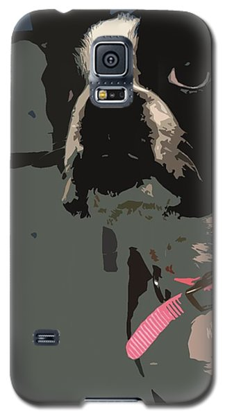 Boston Terrier Art01 Galaxy S5 Case by Donald Williams