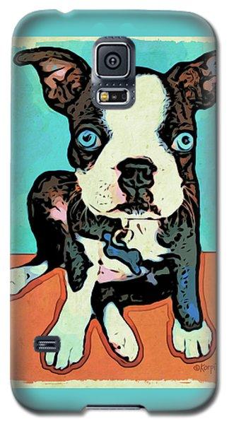 Boston Terrier - Blue Galaxy S5 Case