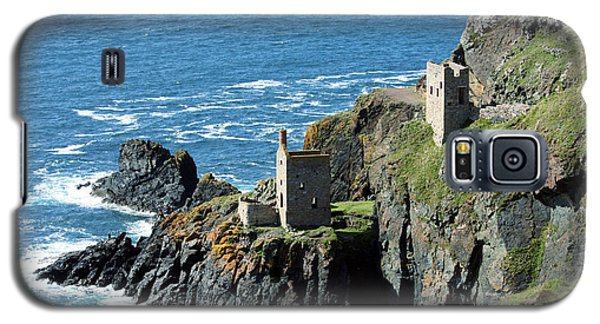 Botallack Crown Engine Houses Cornwall Galaxy S5 Case by Terri Waters