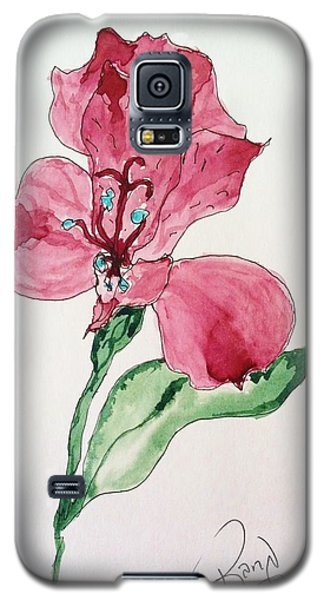 Galaxy S5 Case featuring the painting Botanical Work by Rand Swift