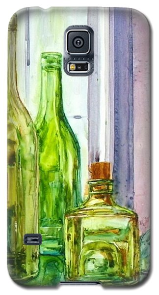 Bottles - Shades Of Green Galaxy S5 Case