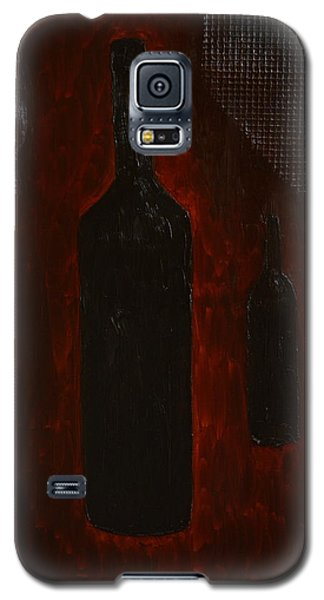 Galaxy S5 Case featuring the painting Bottles by Shawn Marlow