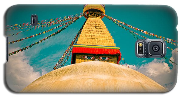 Boudhanath Stupa In Nepal With Blue Sky Galaxy S5 Case
