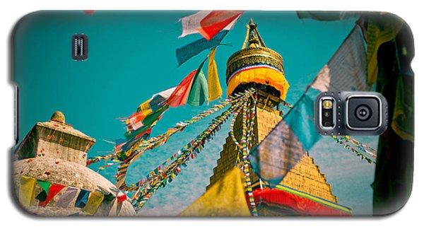 Galaxy S5 Case featuring the photograph Boudnath Stupa In Kathmandu Nepal by Raimond Klavins