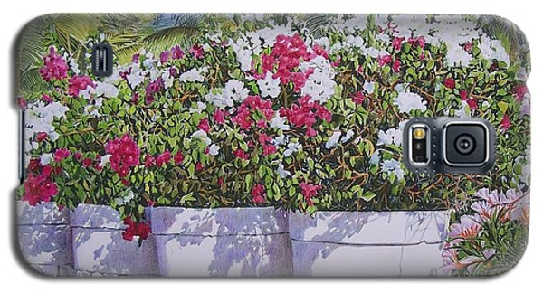 Galaxy S5 Case featuring the mixed media Bougainvillea by Constance Drescher
