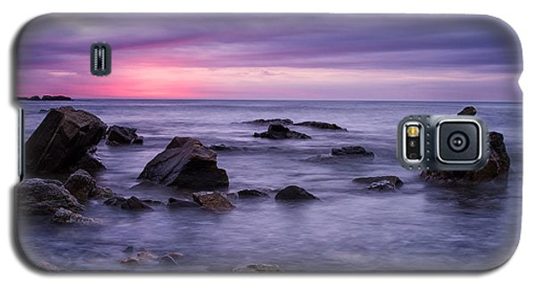 Boulders In The Surf Wallis Sands  Galaxy S5 Case