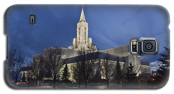 Bountiful Utah Temple In Winter Galaxy S5 Case