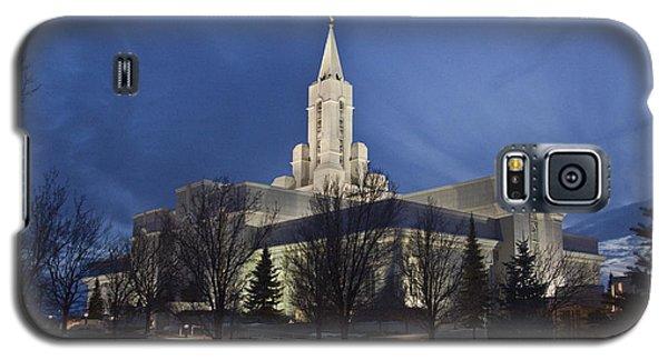 Bountiful Utah Temple In Winter Galaxy S5 Case