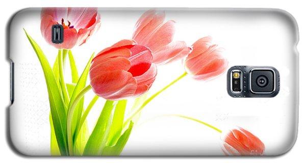 Tulips Flower Bouque In Digital Watercolor Galaxy S5 Case