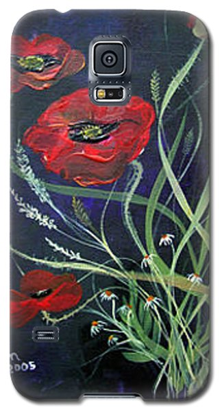 Galaxy S5 Case featuring the painting Bouquet Of Poppies by Dorothy Maier