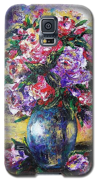 Galaxy S5 Case featuring the painting Bouquet Of Scents by Vesna Martinjak