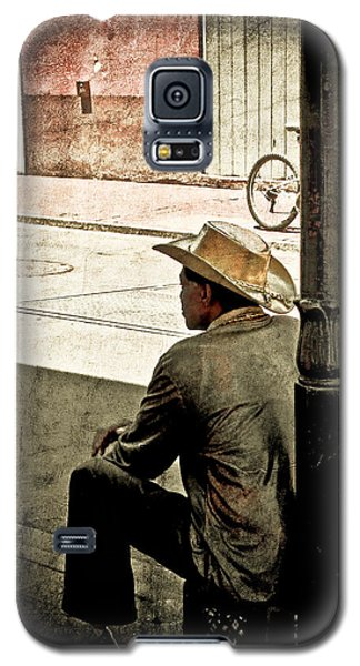 Galaxy S5 Case featuring the photograph Bourbon Cowboy In New Orleans by Ray Devlin
