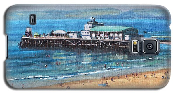 Bournemouth Pier Summer Morning From Cliff Top Galaxy S5 Case