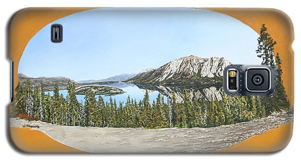 Galaxy S5 Case featuring the painting Bove Island Alaska by Wendy Shoults