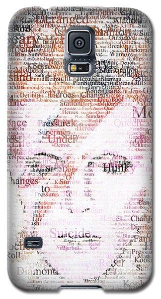 Bowie Typo Galaxy S5 Case by Taylan Apukovska