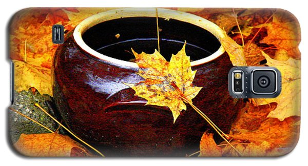 Galaxy S5 Case featuring the photograph Bowl And Leaves by Rodney Lee Williams