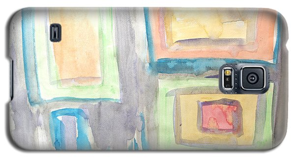 Galaxy S5 Case featuring the painting Box In Box by Esther Newman-Cohen