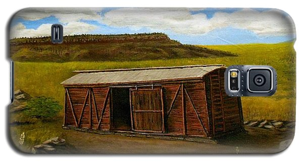 Boxcar On The Plains Galaxy S5 Case by Sheri Keith