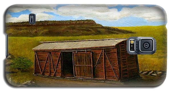 Galaxy S5 Case featuring the painting Boxcar On The Plains by Sheri Keith