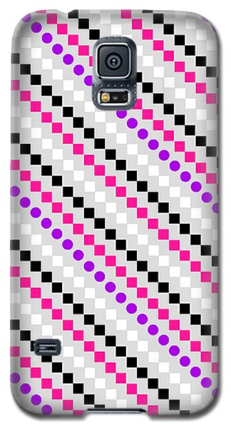 Boxed Stripe Galaxy S5 Case by Louisa Hereford