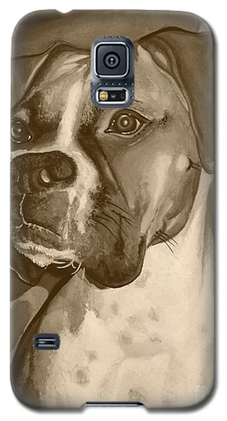 Boxer Dog Sepia Print Galaxy S5 Case