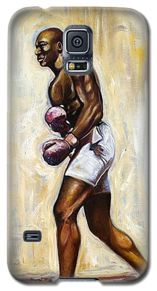 Galaxy S5 Case featuring the painting Boxing by Emery Franklin