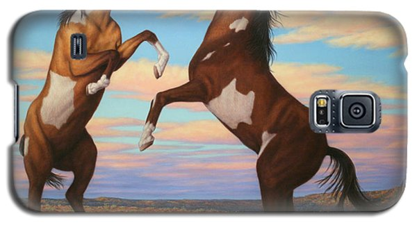 Pear Galaxy S5 Case - Boxing Horses by James W Johnson