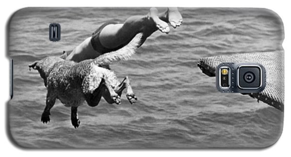Boy And His Dog Dive Together Galaxy S5 Case