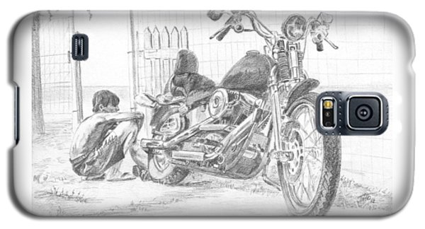 Boy And Motorcycle Galaxy S5 Case
