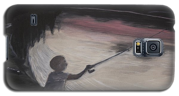 Boy Fishing And Sunset Galaxy S5 Case