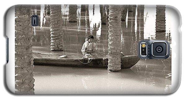 Galaxy S5 Case featuring the photograph Boy Fishing by Tina Manley