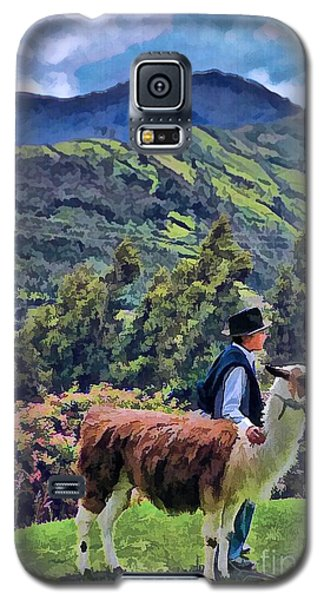 Boy With Llama  Galaxy S5 Case