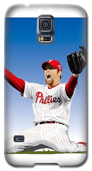 Galaxy S5 Case featuring the digital art Brad Lidge Champion by Scott Weigner