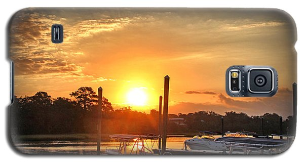 Galaxy S5 Case featuring the photograph Bradley Creek Sunday Sunrise #3 by Phil Mancuso
