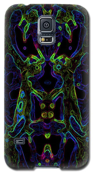 Galaxy S5 Case featuring the digital art Brain Activity Variation 6 by Devin  Cogger