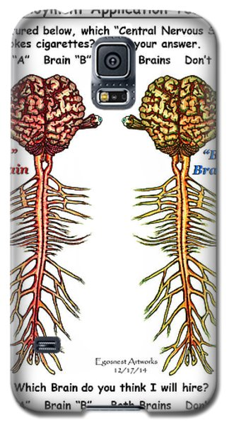 Brain Compared With Smoking Brain Galaxy S5 Case