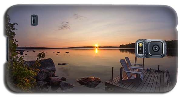Branch Lake Sunrise In Maine Galaxy S5 Case