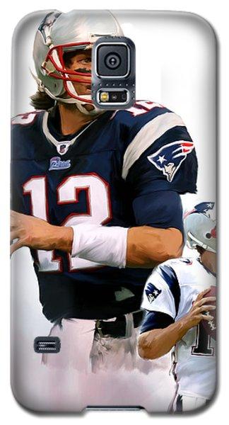 Brady II  Tom Brady Galaxy S5 Case by Iconic Images Art Gallery David Pucciarelli