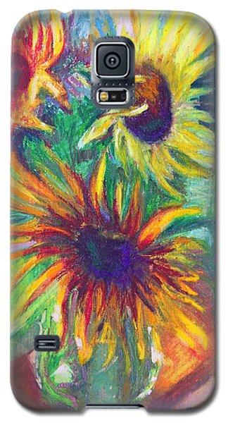 Brandy's Sunflowers - Still Life On Windowsill Galaxy S5 Case