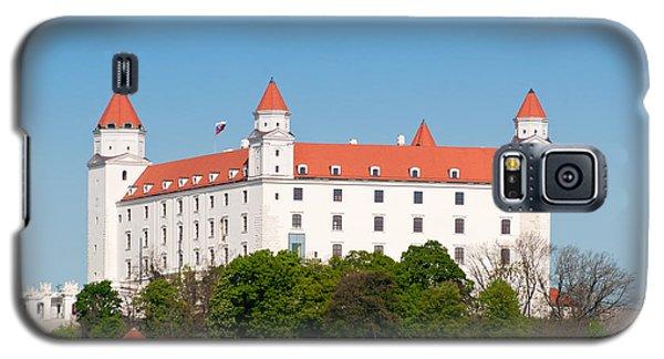 Galaxy S5 Case featuring the photograph Bratislava Castle by Les Palenik