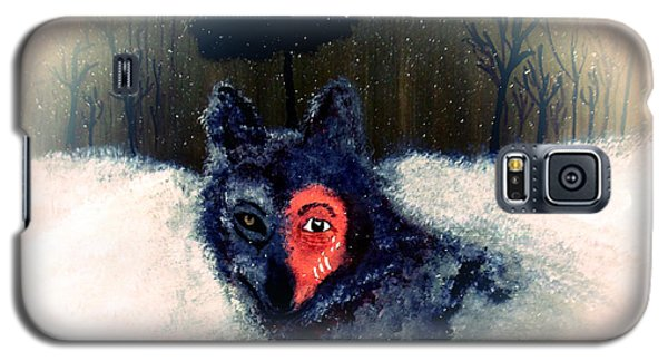 Galaxy S5 Case featuring the painting Bravewolf 2 by Ayasha Loya