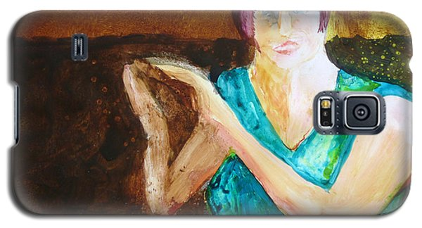 Galaxy S5 Case featuring the painting Bravo by Keith Thue