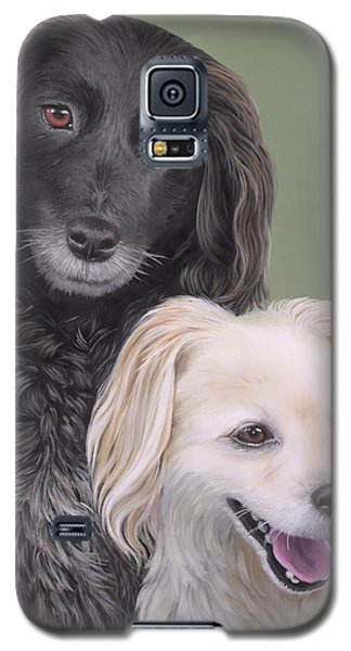 Galaxy S5 Case featuring the painting Brea And Randy by Jane Girardot
