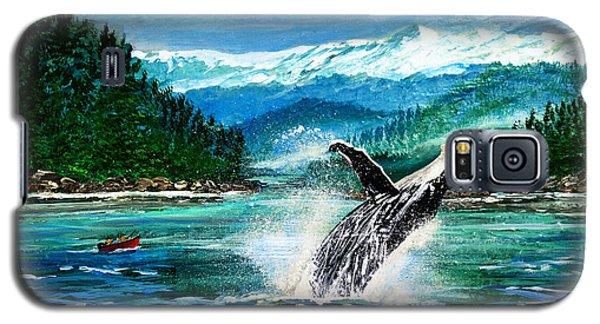 Breaching Humpback Whale Galaxy S5 Case by Patricia L Davidson